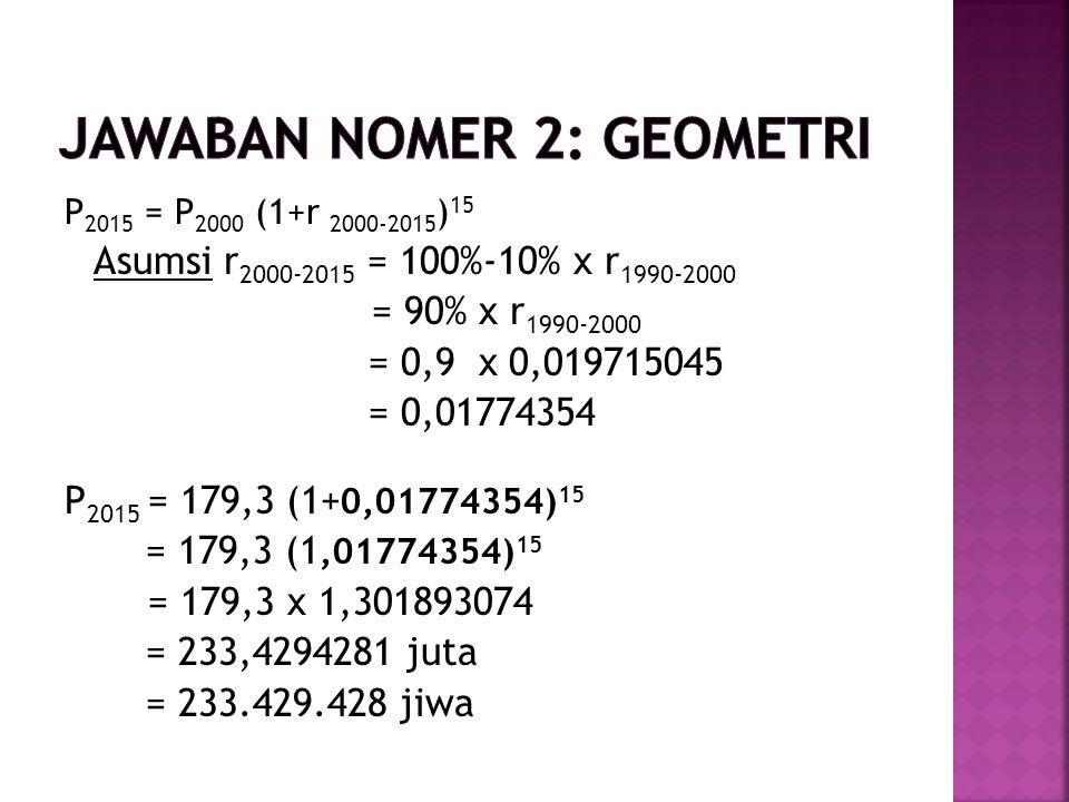 Jawaban nomer 2: geometri
