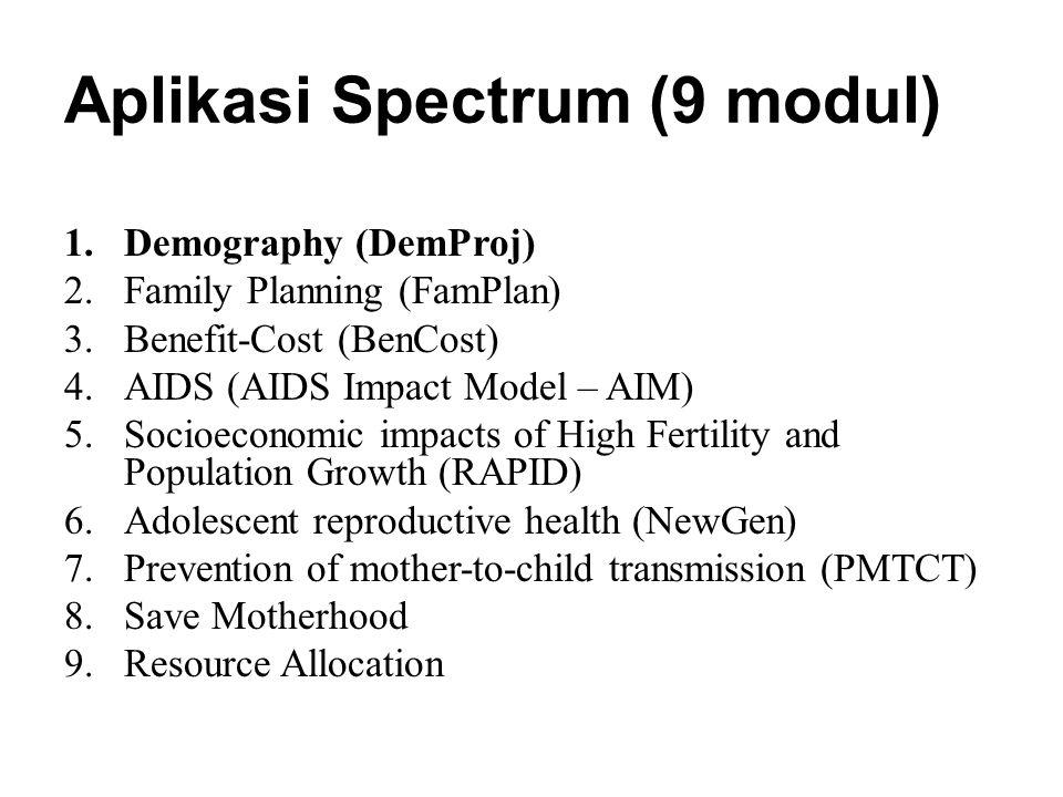 Aplikasi Spectrum (9 modul)