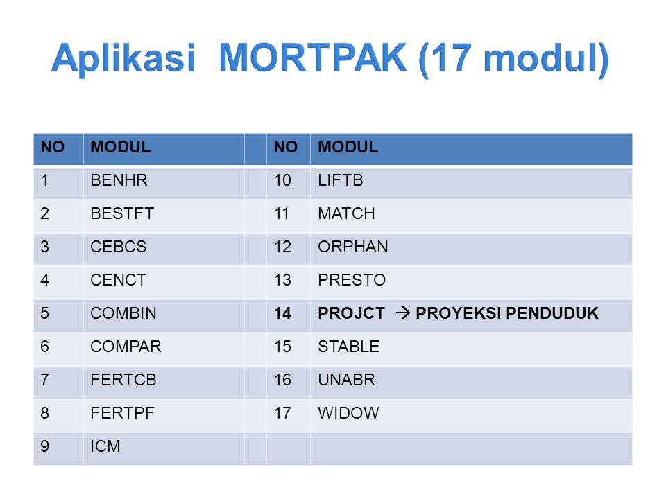 Aplikasi MORTPAK (17 modul)