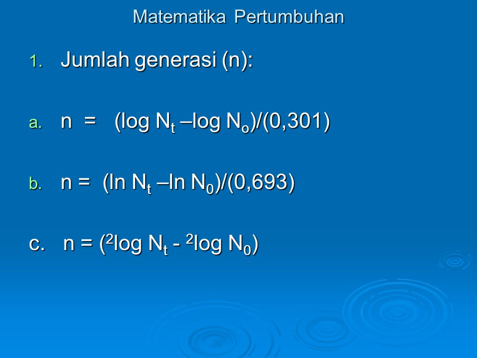 Matematika Pertumbuhan