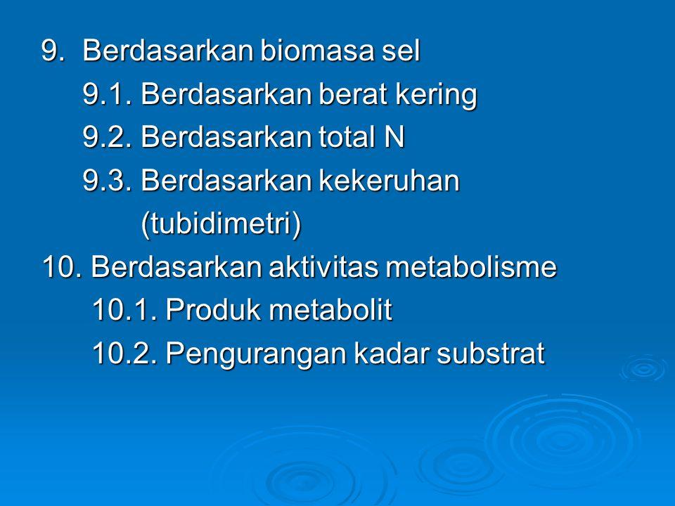 9. Berdasarkan biomasa sel