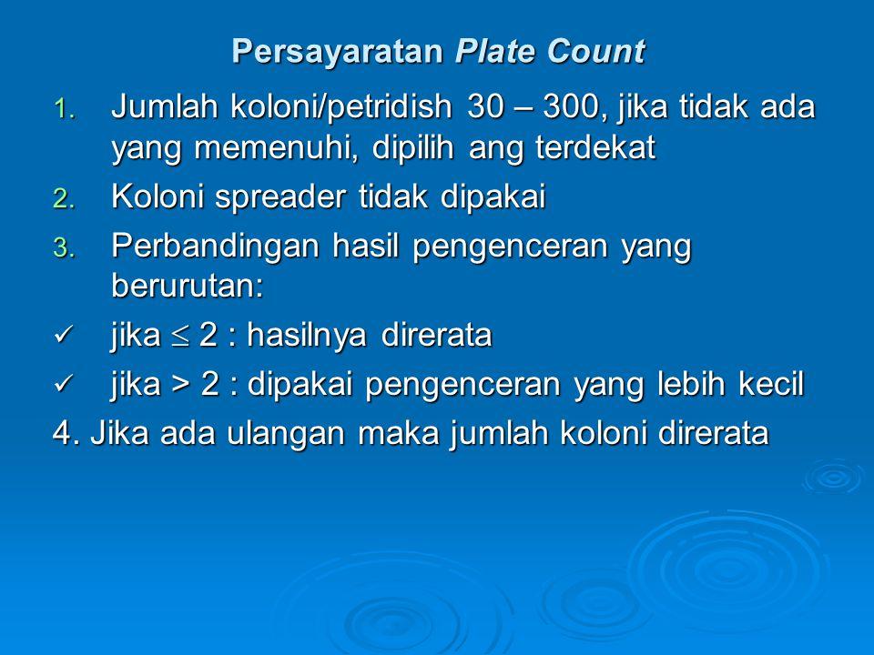 Persayaratan Plate Count