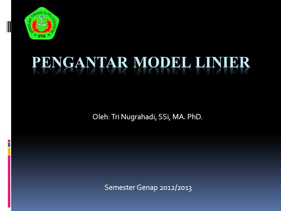 Pengantar Model Linier