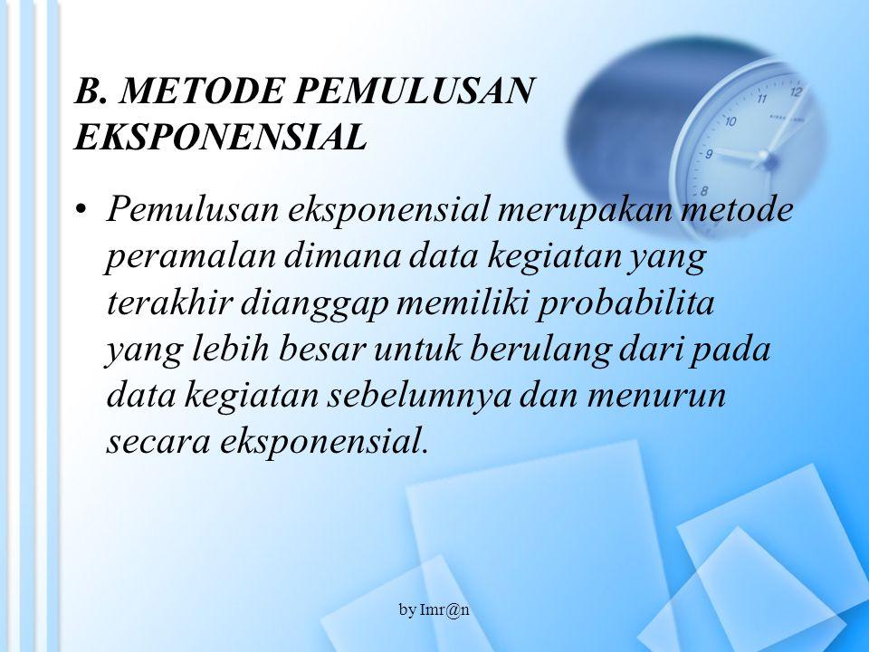B. METODE PEMULUSAN EKSPONENSIAL