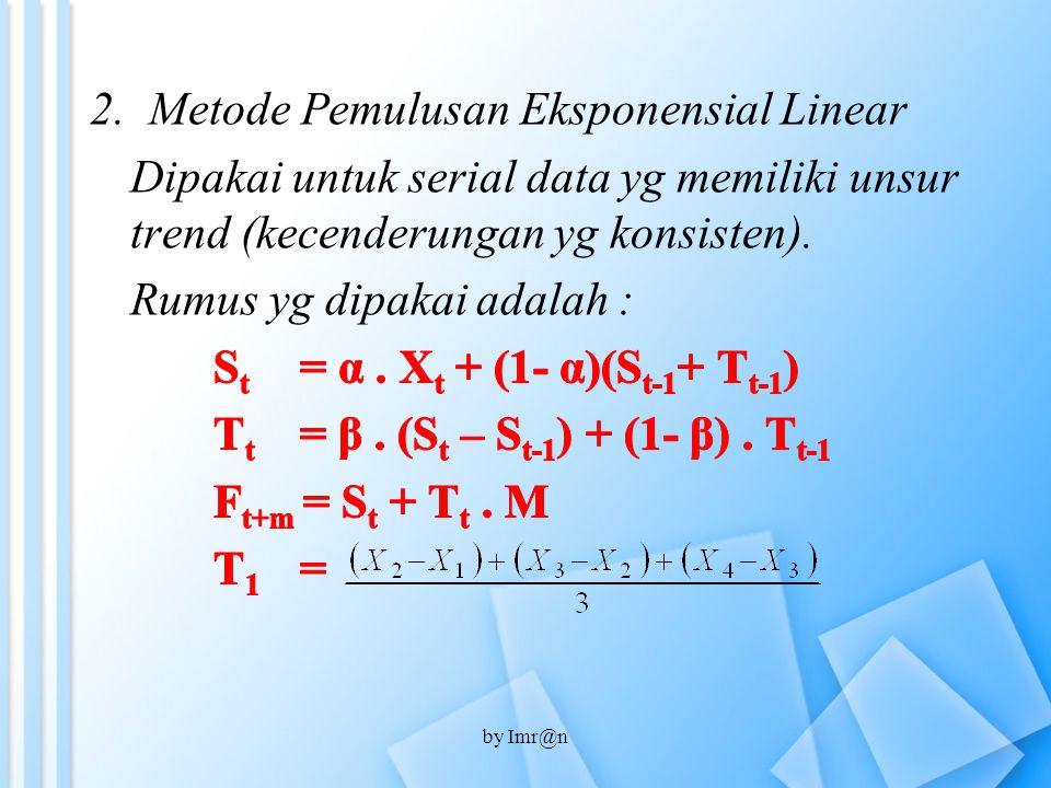 Metode Pemulusan Eksponensial Linear