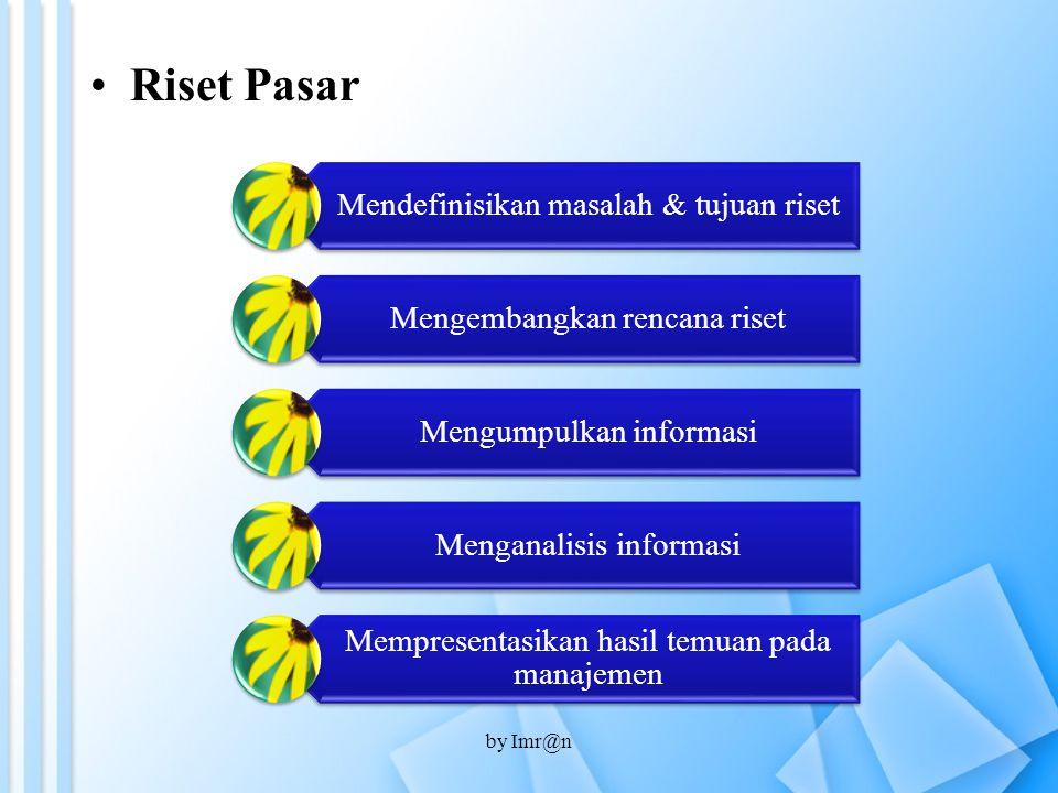 Riset Pasar by Imr@n Mendefinisikan masalah & tujuan riset