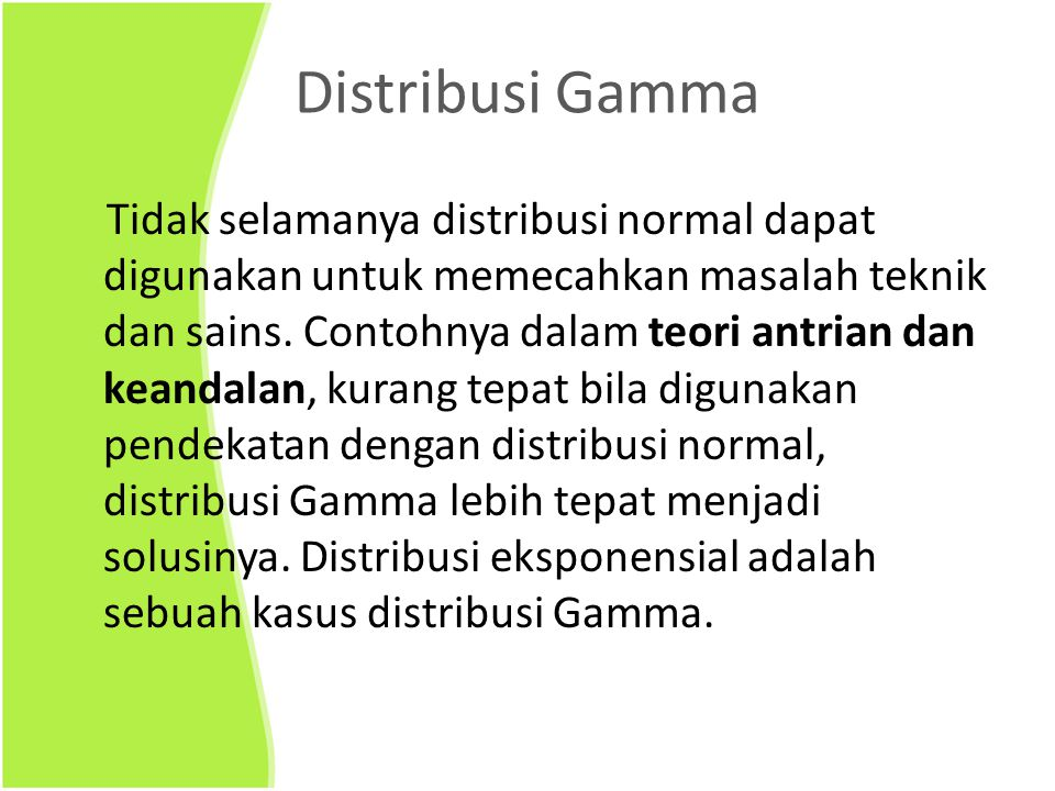 Distribusi Gamma