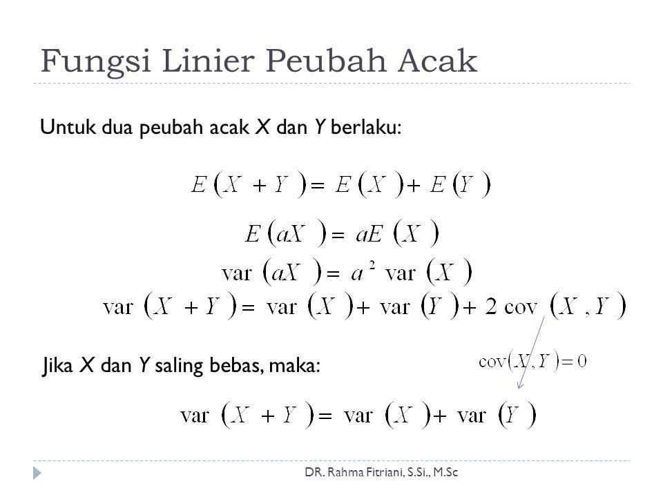 Fungsi Linier Peubah Acak