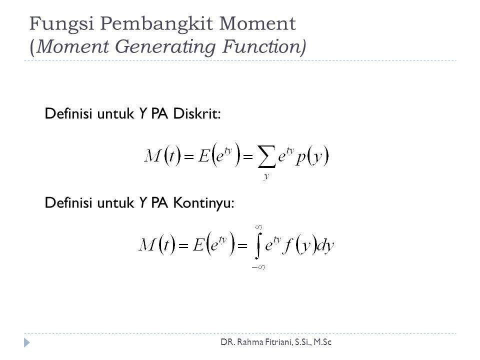 Fungsi Pembangkit Moment (Moment Generating Function)