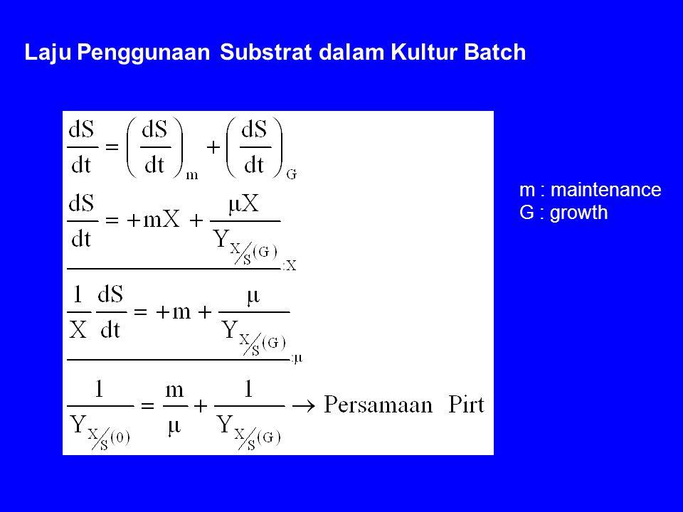 Laju Penggunaan Substrat dalam Kultur Batch