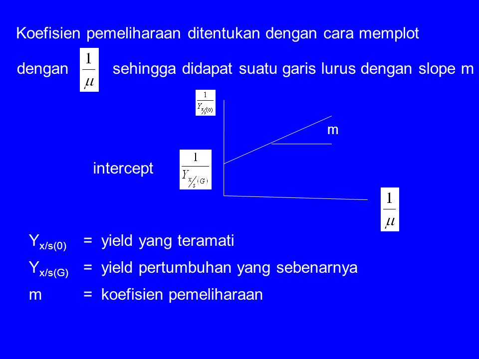 Koefisien pemeliharaan ditentukan dengan cara memplot