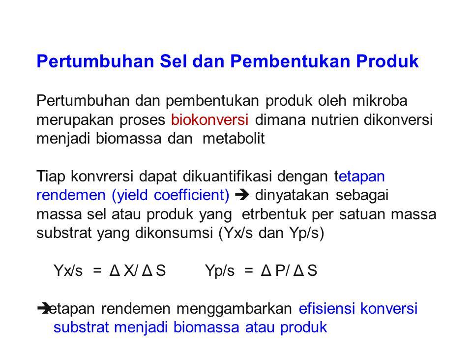 Pertumbuhan Sel dan Pembentukan Produk