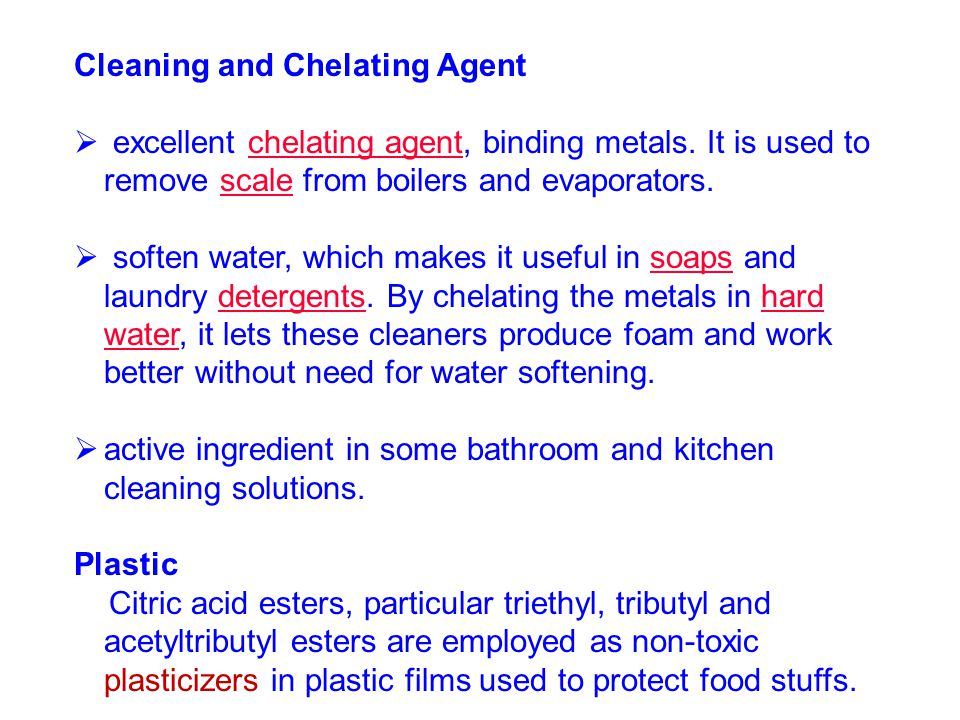 Cleaning and Chelating Agent