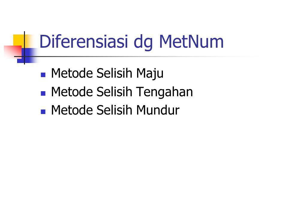 Diferensiasi dg MetNum