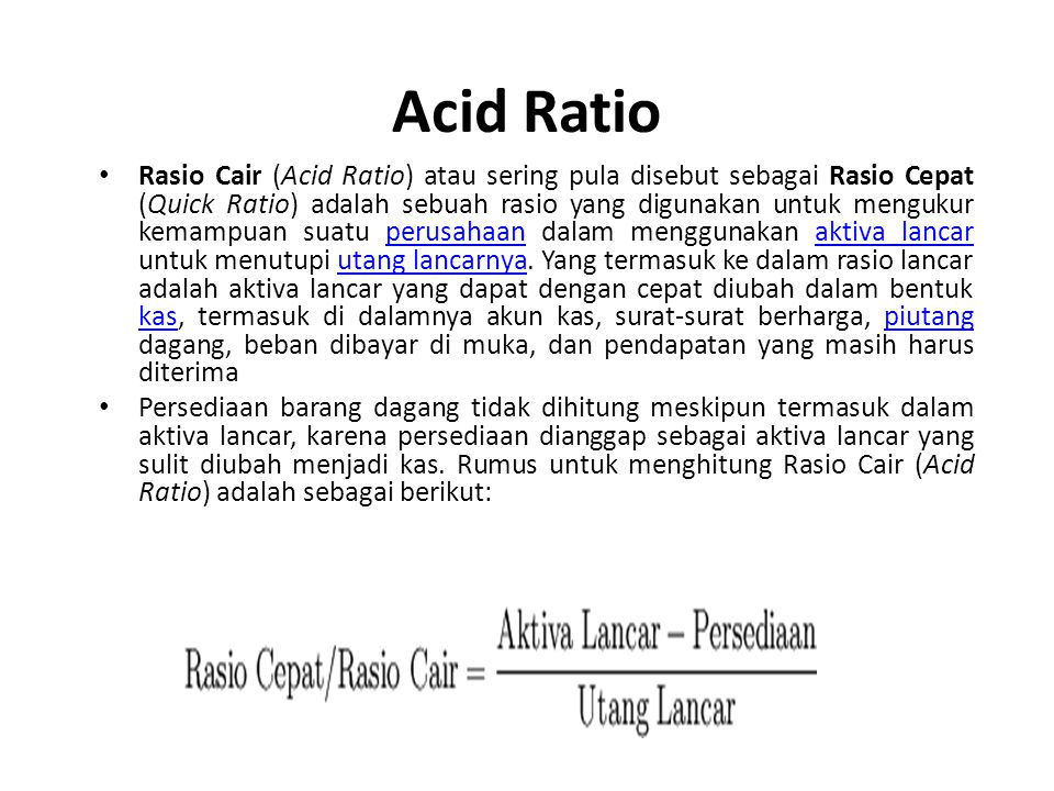 Acid Ratio