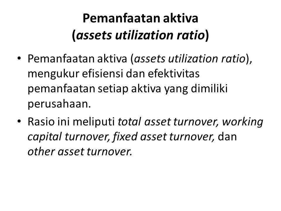 Pemanfaatan aktiva (assets utilization ratio)