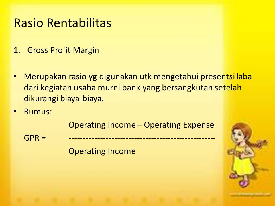 Rasio Rentabilitas Gross Profit Margin