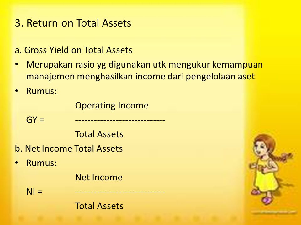 3. Return on Total Assets a. Gross Yield on Total Assets