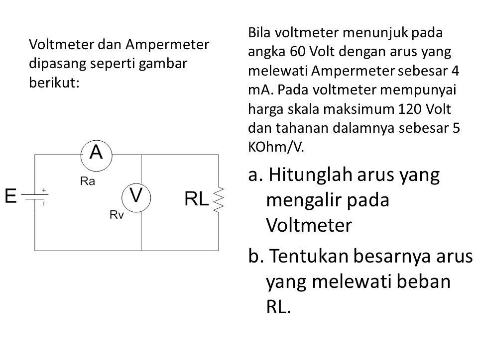 a. Hitunglah arus yang mengalir pada Voltmeter