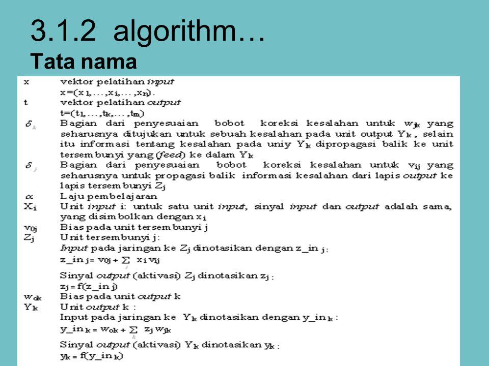 3.1.2 algorithm… Tata nama