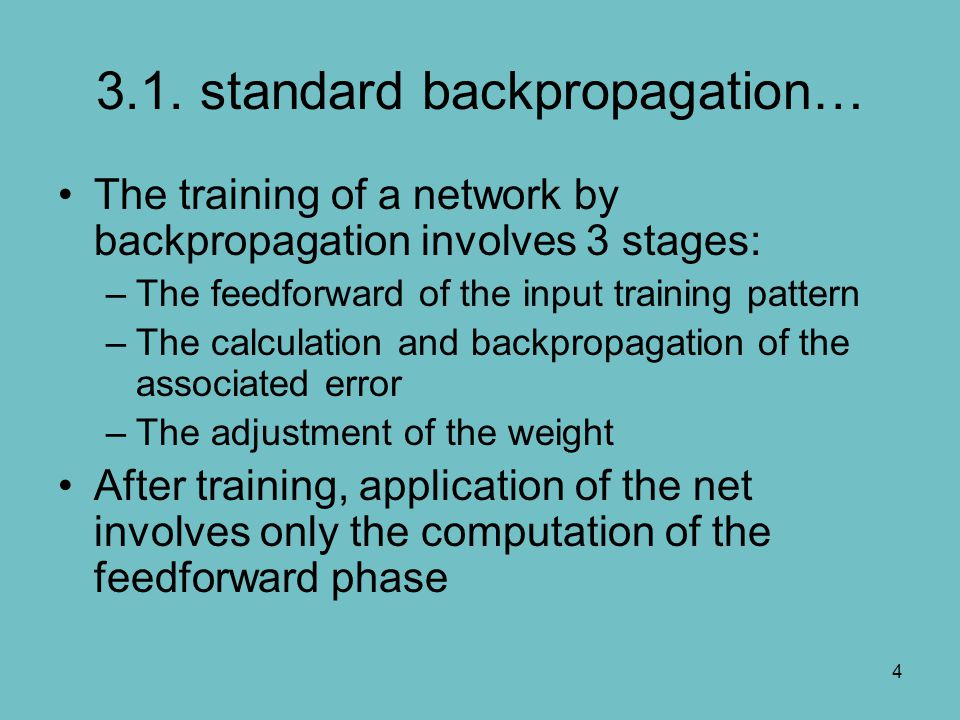 3.1. standard backpropagation…