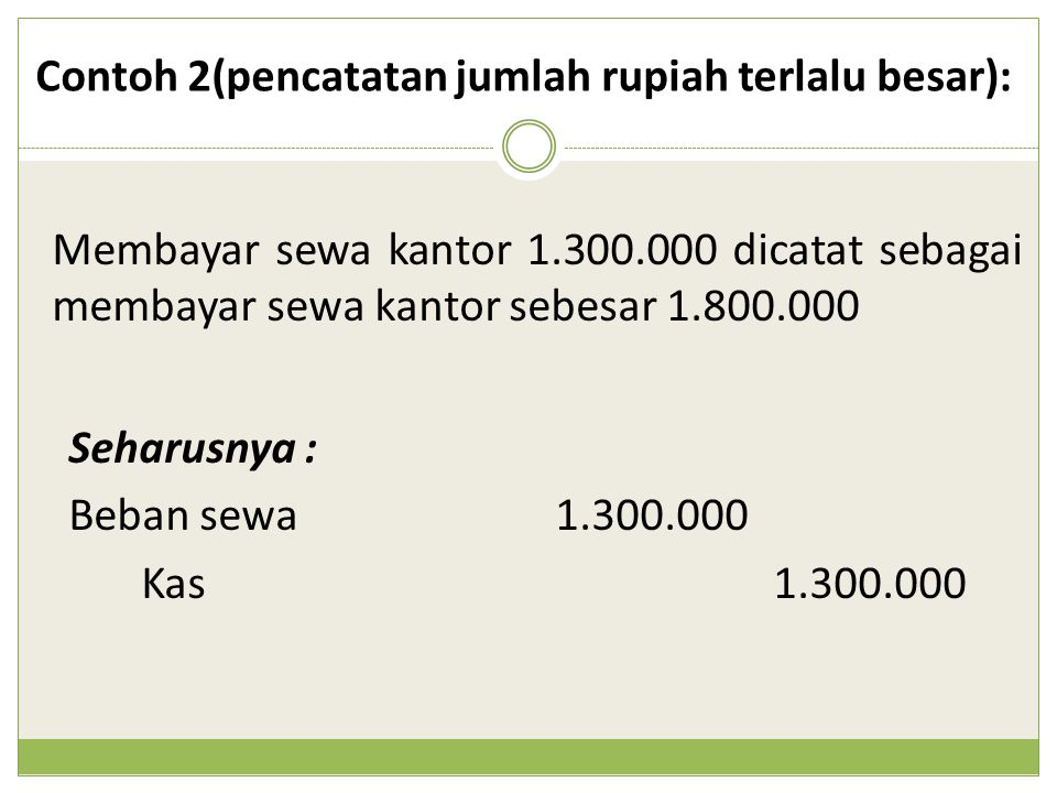 Contoh 2(pencatatan jumlah rupiah terlalu besar):