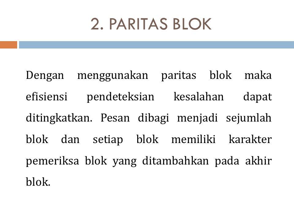 2. PARITAS BLOK