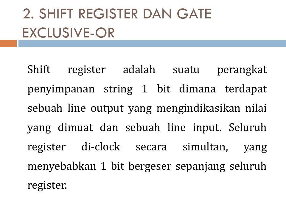2. SHIFT REGISTER DAN GATE EXCLUSIVE-OR