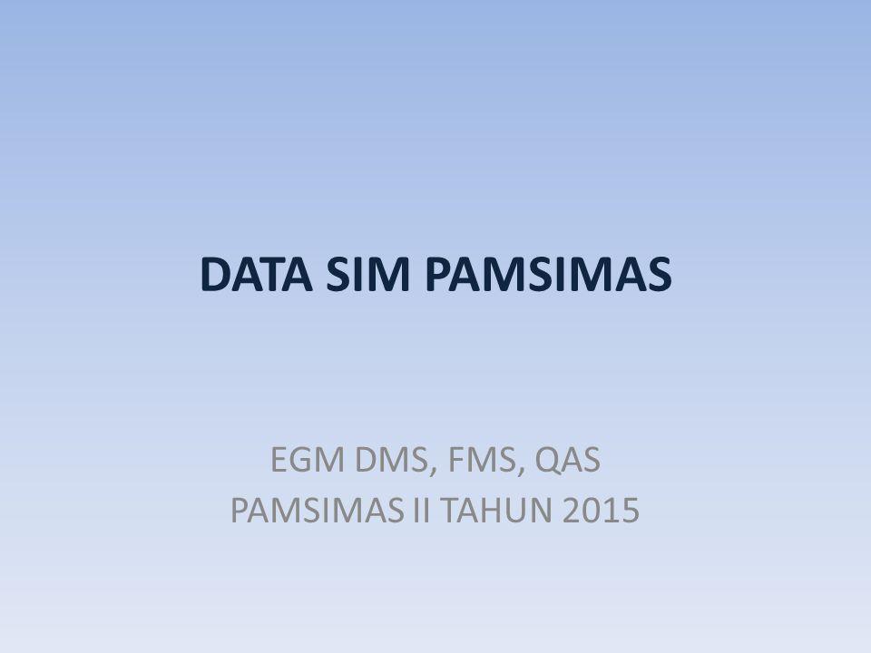 EGM DMS, FMS, QAS PAMSIMAS II TAHUN 2015