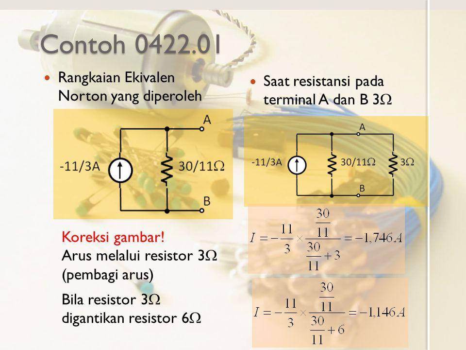 Contoh 0422.01 Rangkaian Ekivalen Norton yang diperoleh