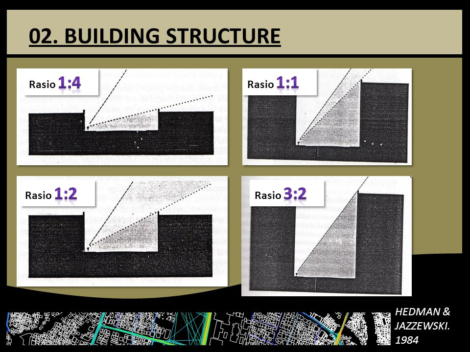 02. BUILDING STRUCTURE Rasio 1:4 Rasio 1:1 Rasio 1:2 Rasio 3:2