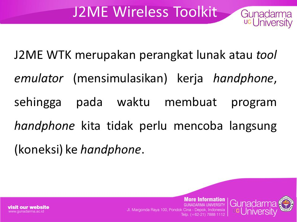 J2ME Wireless Toolkit