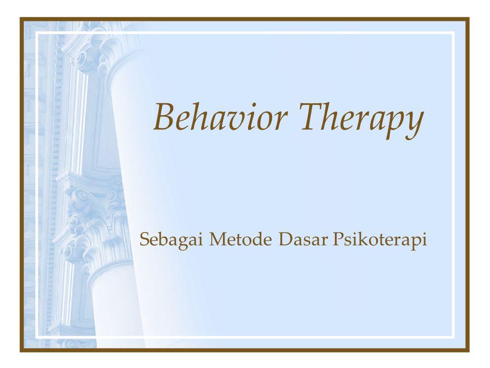 Sebagai Metode Dasar Psikoterapi