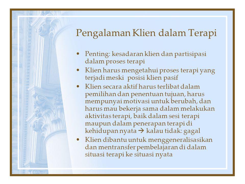 Pengalaman Klien dalam Terapi