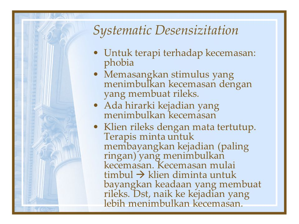Systematic Desensizitation