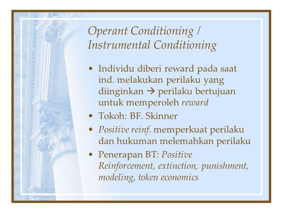Operant Conditioning / Instrumental Conditioning