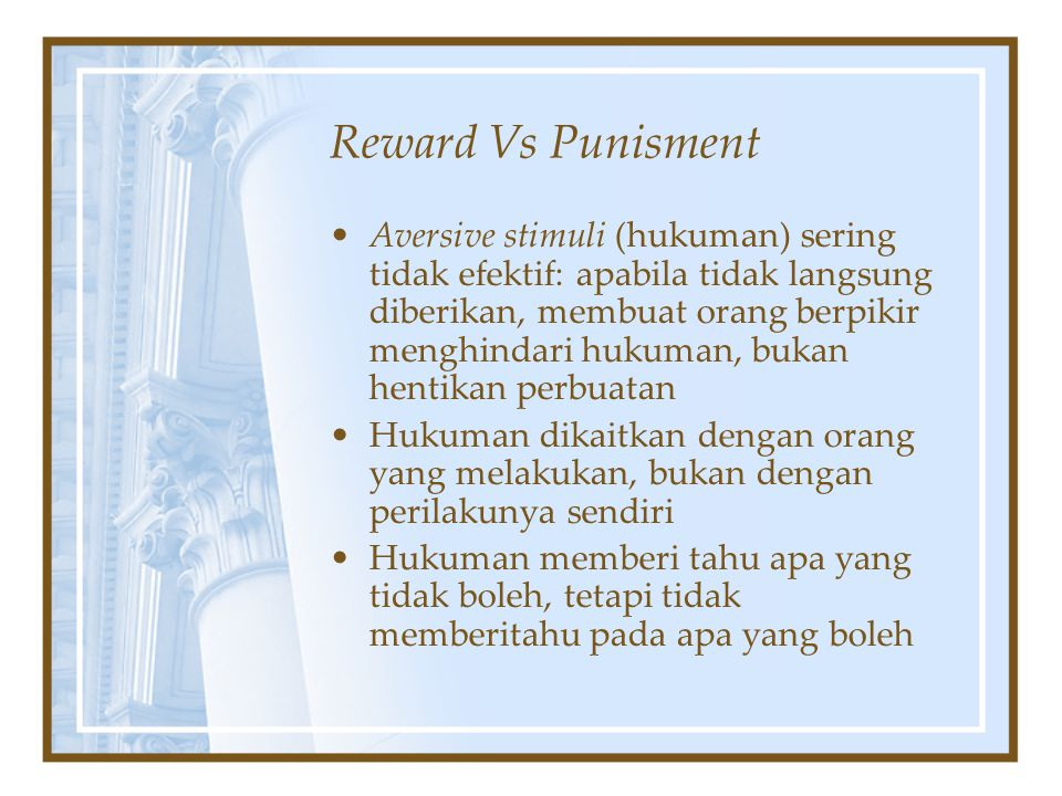 Reward Vs Punisment