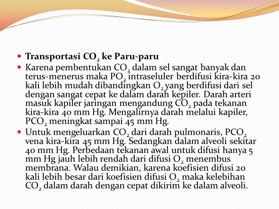 Transportasi CO2 ke Paru-paru