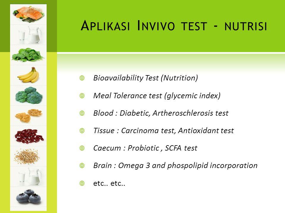 Aplikasi Invivo test - nutrisi