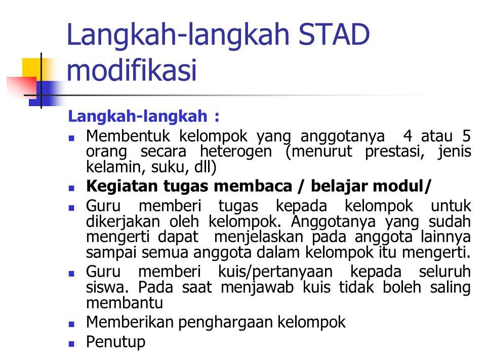 Langkah-langkah STAD modifikasi