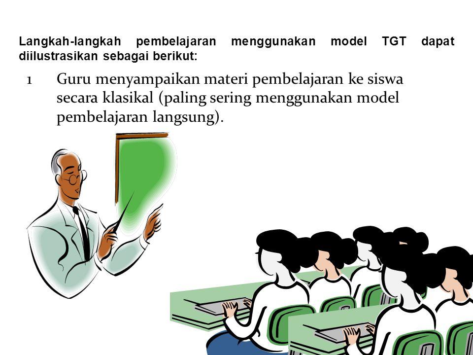 Langkah-langkah pembelajaran menggunakan model TGT dapat diilustrasikan sebagai berikut: