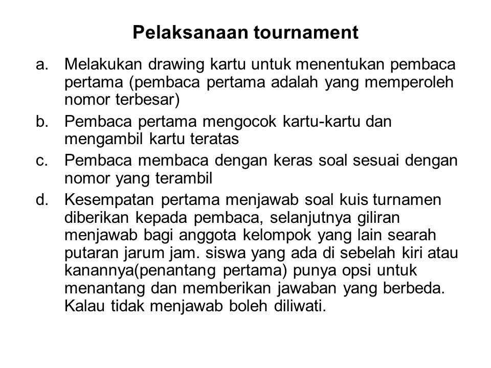 Pelaksanaan tournament