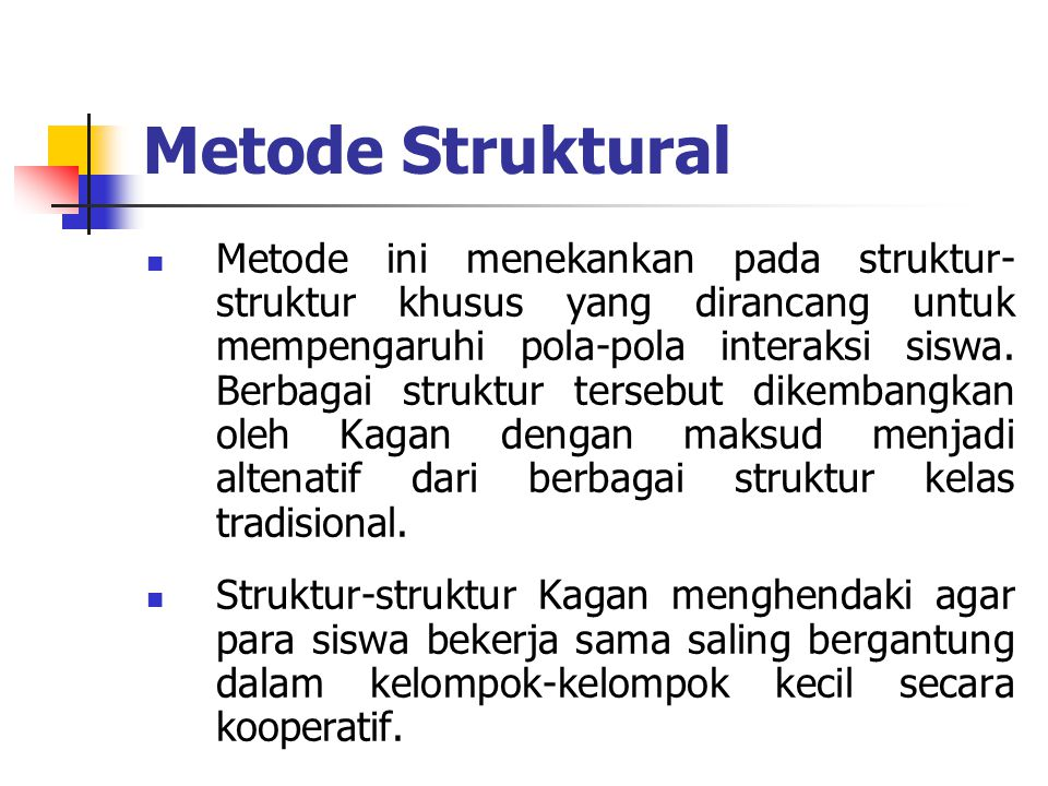 Metode Struktural
