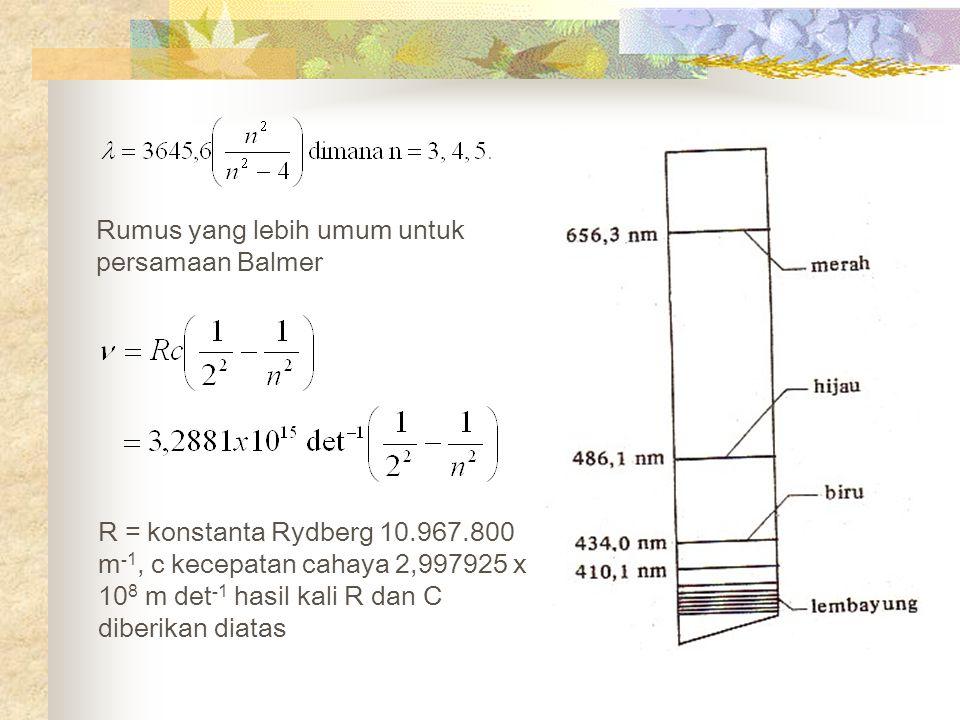Rumus yang lebih umum untuk persamaan Balmer