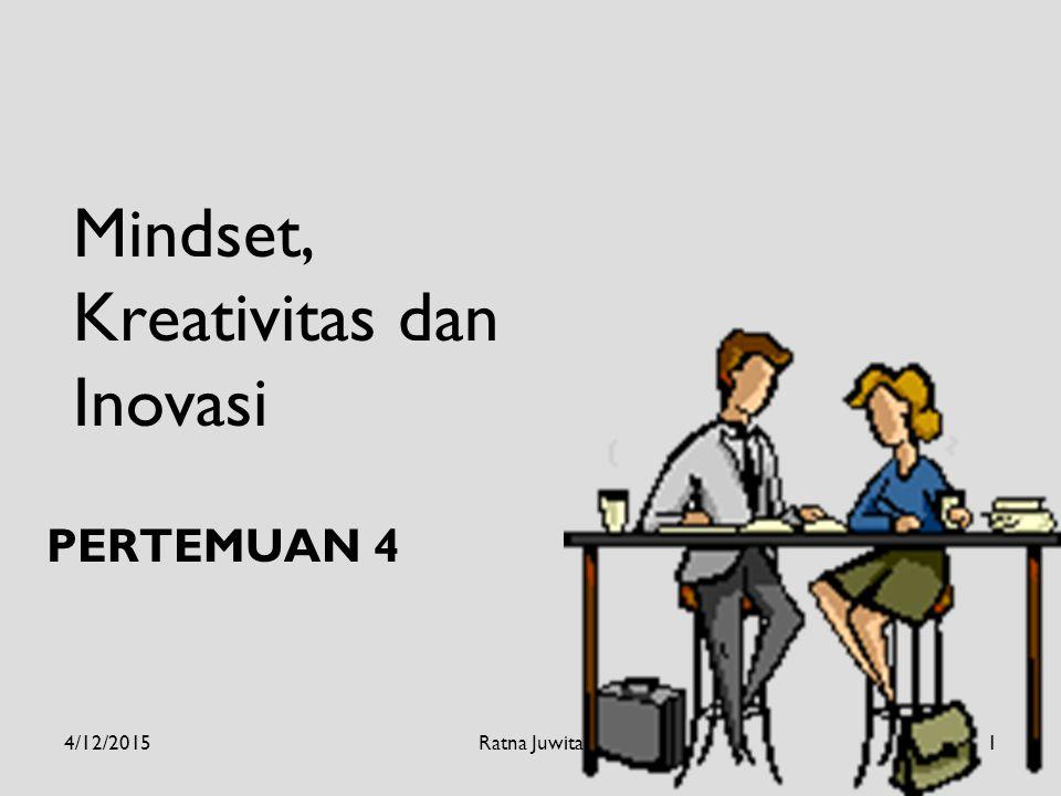Mindset, Kreativitas dan Inovasi