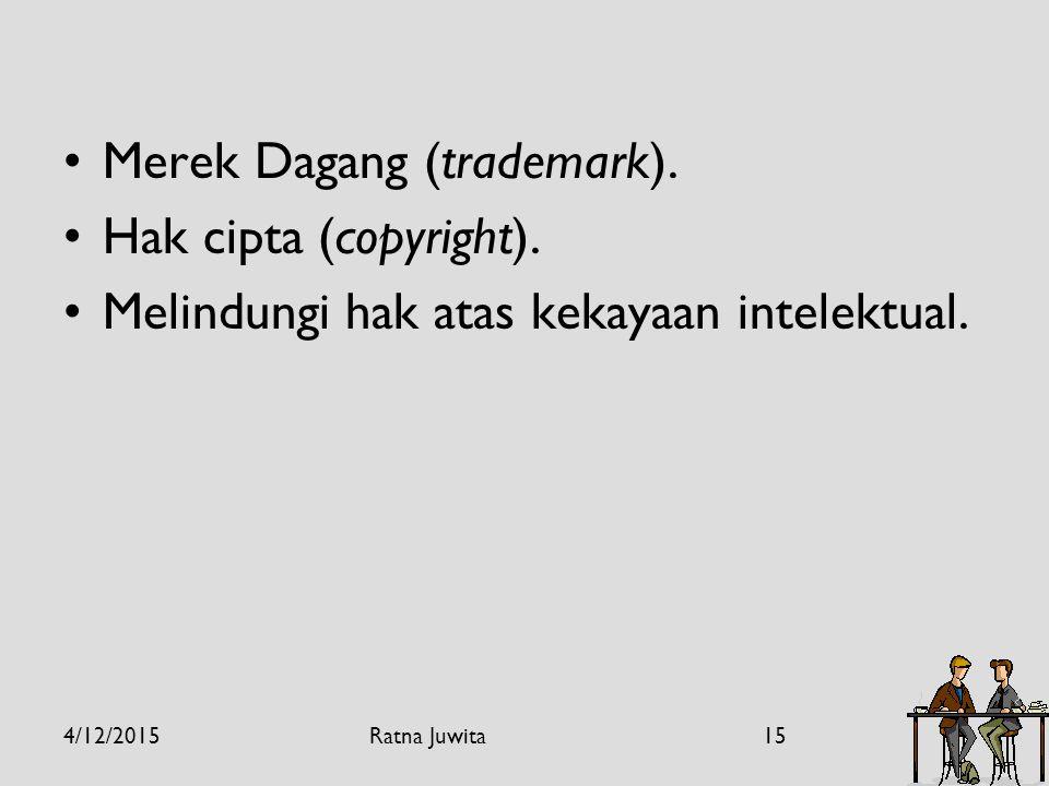 Merek Dagang (trademark). Hak cipta (copyright).