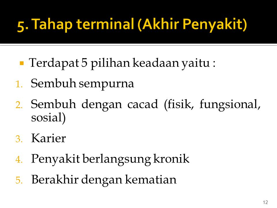 5. Tahap terminal (Akhir Penyakit)