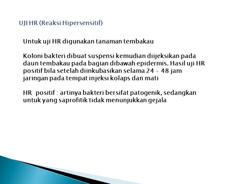 UJI HR (Reaksi Hipersensitif)