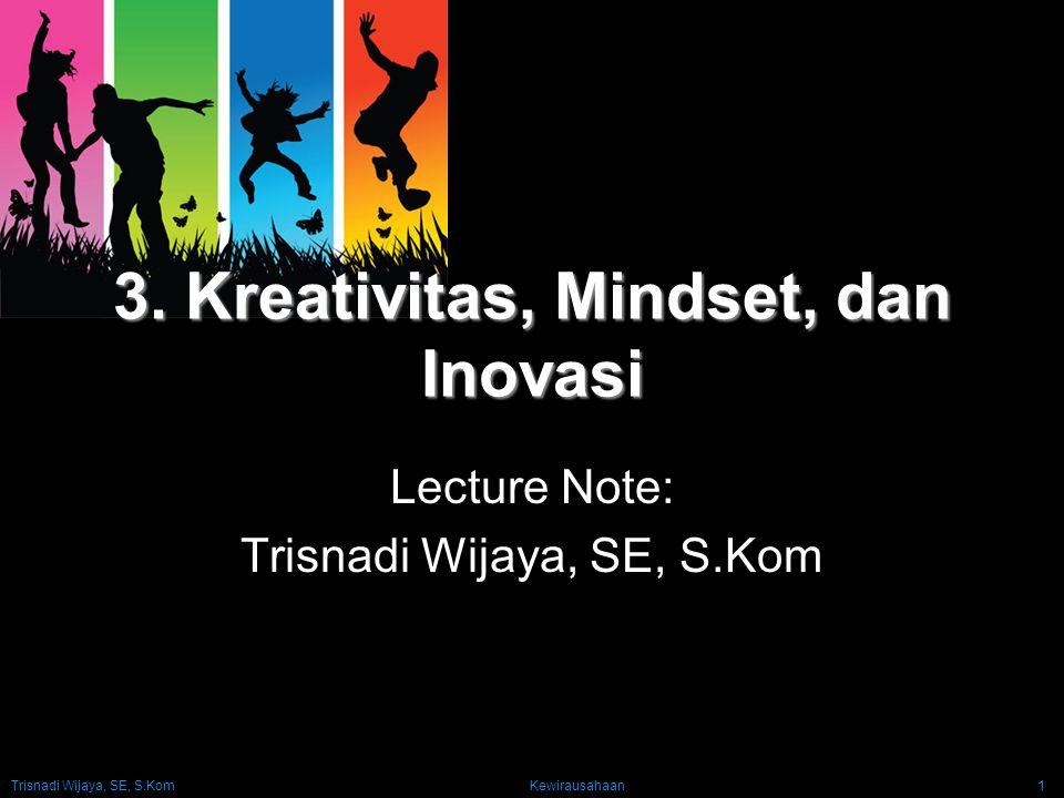 3. Kreativitas, Mindset, dan Inovasi