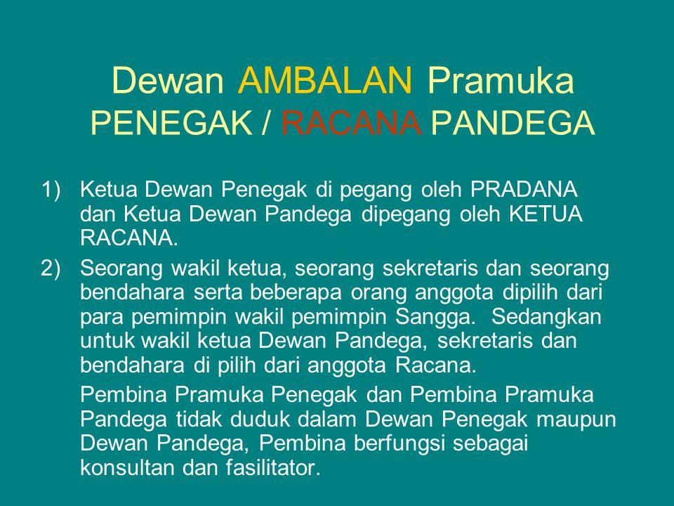 Dewan AMBALAN Pramuka PENEGAK / RACANA PANDEGA
